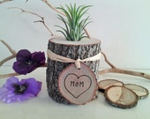 Mothers day terrarium - Air plant terrarium - Gift for Mom - Co worker gifts - Home and Living  - Wood terrarium - Personalized