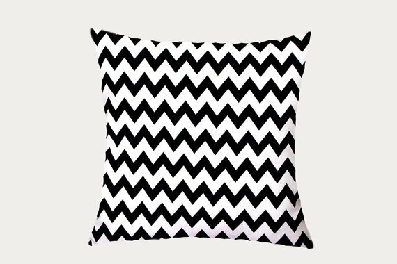 Black And White Decorative Pillow Cases : Decorative Pillow Case Black White Cotton Throw pillow case