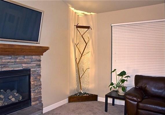 Corner Tree Sculpture Waterfall Indoor Water Feature