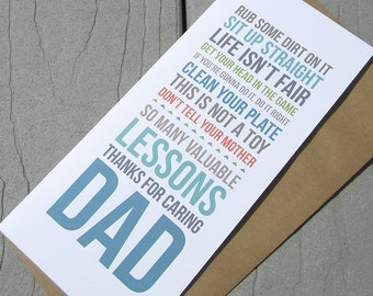 Father's Day Card, Lessons