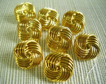 10  Square - Gold color - 17mm-Shank