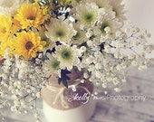 Spring Mix- Flower Still Life Photograph- Bouquet of Flowers- Spring Flowers Photo- Yellow White Flowers- Floral Art- 8x12 Fine Art Print
