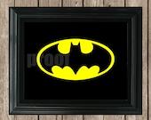 Batman Printable-- INSTANT DOWNLOAD
