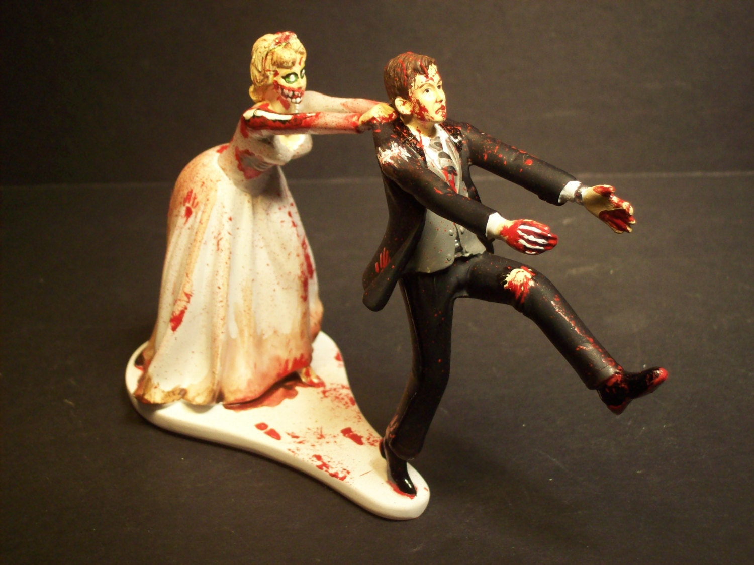 Halloween SALE Zombies Running Bride and Groom Funny Wedding