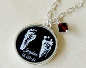 Mother's Necklace - Baby Footprint Necklace - Footprint Necklace - Footprint Jewelry - Mother's Day - New Mom - Infant Loss - Memorial