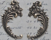 Left and Right Neo Victorian flourishes, Brass Ox