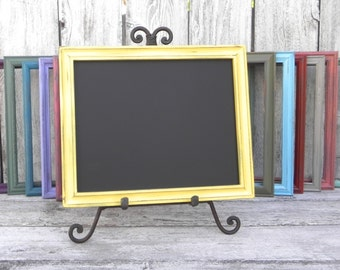 Shabby Chic Framed Chalkboard, 8 x 10 Chalkboard, Upcycled Framed Chalkboard, Wedding Chalkboard, Menu Chalkboard