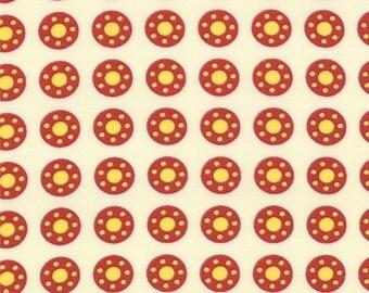 Bobbins and Bits Fabric Collection - Fresh Linen Small Circles 43023-11 - 1 Yard