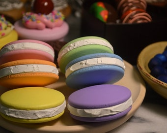Pretend Bakery French Macaroon Pretend Food Set of 6
