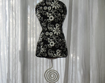 Necklace Stand / Mannequin / Dress form / Vanity Table Decor / Necklace Display / Pin cushion / Mantle Decor / Home Accessories/ Centerpiece