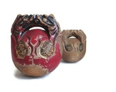 Antique Wooden Artifacts Bells Primitive Instruments Folk Art