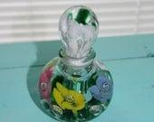 Reserved for Ellen Saint Claire Art Glass Perfume Bottle