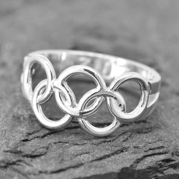 Olympic Ring Olympic Jewelry Sterling Silver Ring Custom