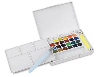 Sakura Koi Watercolor Sketch Box Travel Pan Set of 24 Colors