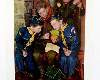Vintage 1960's Norman Rockwell The Right Way Boy Scout Print