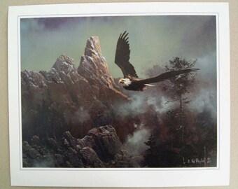 Vintage 1987 Ted Blaylock Bald Eagle Print