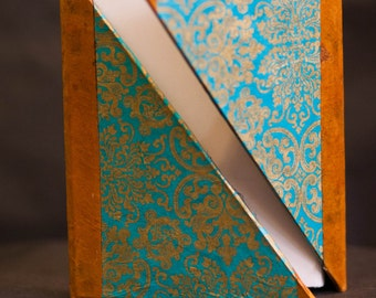 """Victorian Journal - Blue and Gold """"Hug"""" Book"""