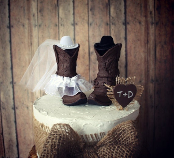 Cowboy Cowgirl Wedding Ideas: Cowboy Boots-cowgirl Boots-wedding Cake By MorganTheCreator