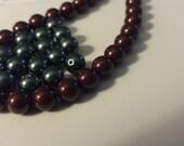300 6mm round Swarovski crystal pearls grey black blue maroon Tahitian green platinum wholesale clearance sale
