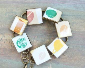 Resin Jewelry, Starbucks Bracelets Coffee cups
