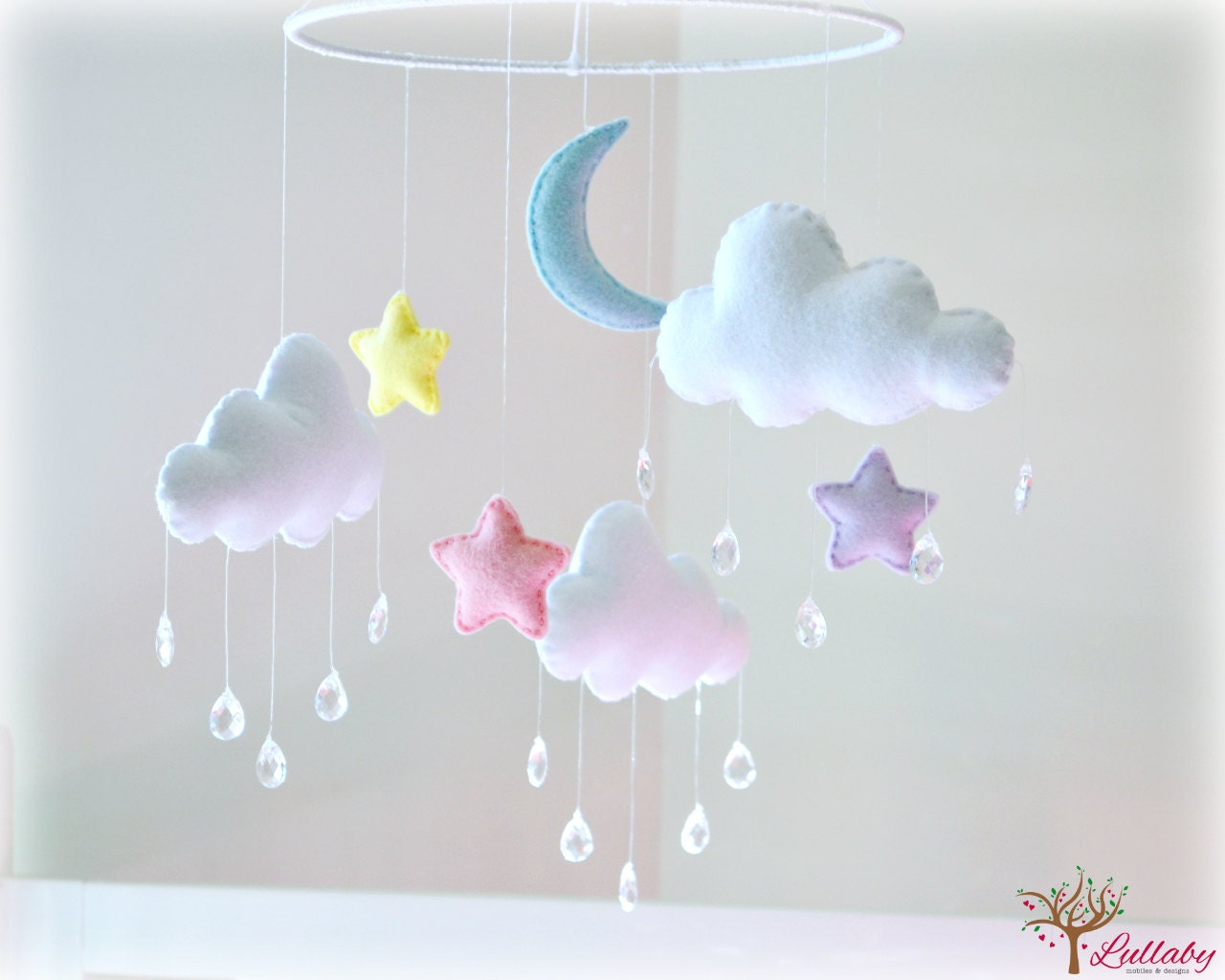 Night Sky Stars Moon And Clouds Mobile Cloud By Lullabymobiles