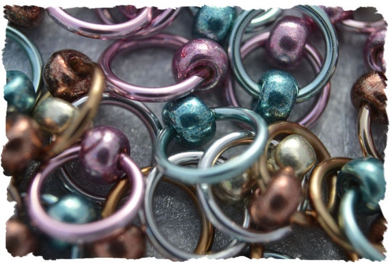 Ringlets - Galvanized stitch markers, ring markers, knitting markers, snag free, dangle free