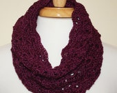 Custom Order for Lynette Martin - Bamboo and Silk Cowl in Purple
