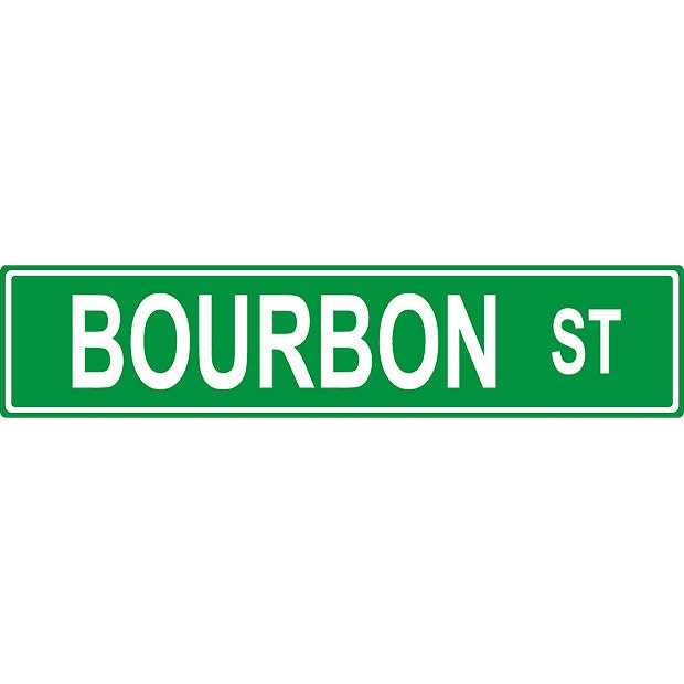 bourbon street sign personalized to your wants aluminum sign