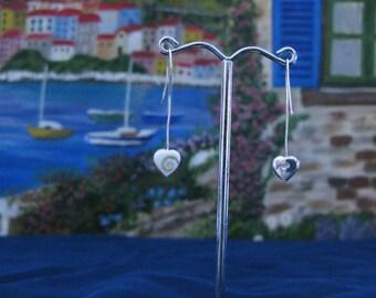 Earrings Sterling Silver 925 with Shiva eye LE261, Saint Lucy's, oeil de Sainte-Lucie, Auge von Saint Lucia