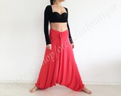 ALADDIN Coral jersey harem yoga comfortable baggy sweat pants plus size boho sarouel loose hippie gypsy