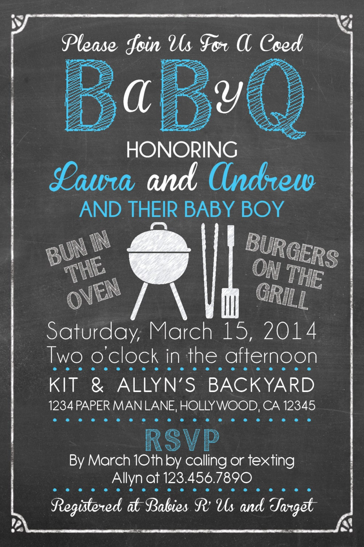 baby q shower invitation bbq baby shower babyq barbecue