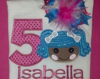 Lalaloopsy Birthday shirt and Matching Bow