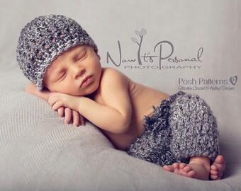 Crochet PATTERN - Crochet Pattern Baby - Crochet Patterns - Crochet Patterns for Boys - Newborn Crochet Hat - Baby Pants Pattern - PDF 330