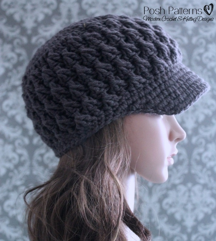 Free Knitting Pattern Baby Newsboy Hat : Crochet PATTERN Newsboy Hat Crochet Pattern Crochet Hat