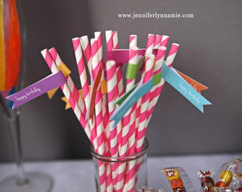 Candy Land Shop Straw Flags and Sweet Tooth Sign Toothbrush Favor  Party Rainbow Birthday Drink  Printable PDF