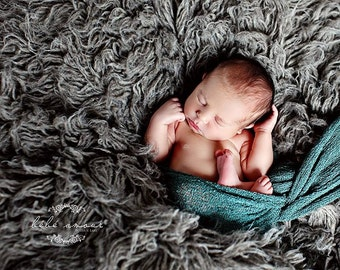 Stretch wrap - 'PINE' newborn stretch wrap  / scarf - prop blanket - knitbysarah - Stitches by Sarah