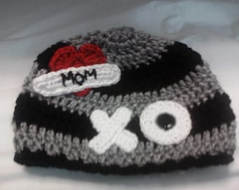 Crocheted Valentine hat for the little guys