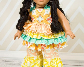Kiki's and Kara's Ruffled Outfit for Dolls PDF Pattern for 15- and 18-inch Dolls