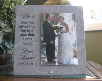 Wedding Gift for Father of Bride, Wedding Frame for Father of Bride, Wedding  Picture Frame for Father of Bride, Personalized Gift,4x6 photo