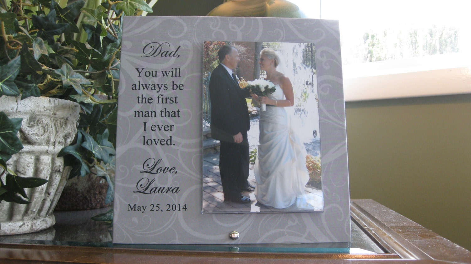 Personalized Wedding Gift for Father of Bride, Custom Wedding Gift ...