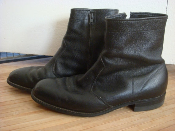 vintage mens ankle boots goodyear motorcycle boots black