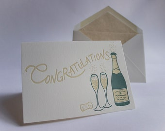 Congratulations Letterpress Greetings Card