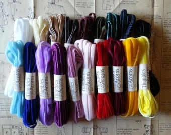 5 yards 3/8-inch Velvet Ribbon ~ 19 Colors Available
