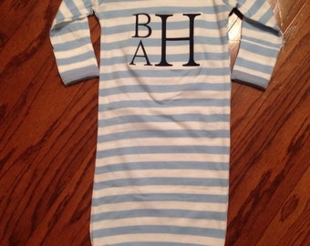Blue and white stripe  Baby Boy/Girl Coming Home Outfit