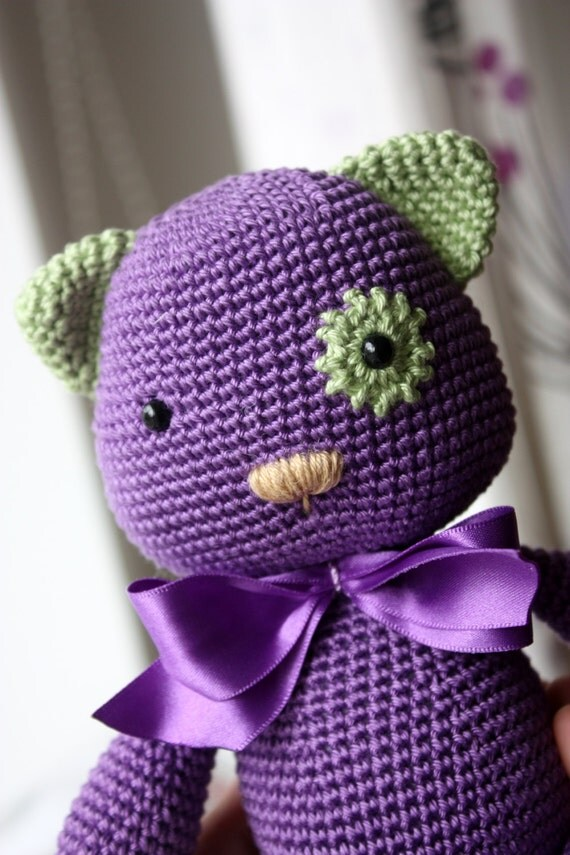 Tutorial Amigurumi Kitty : PATTERN Amigurumi Pattern Crochet Cat Tutorial by ...