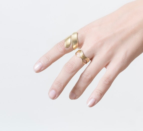 Adjustable Urban Ring in Gold, Gold Ring, Adjustable Ring