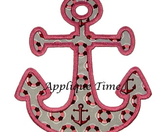 Instant Download Anchor Machine Embroidery Applique Design 4x4, 5x7 and 6x10