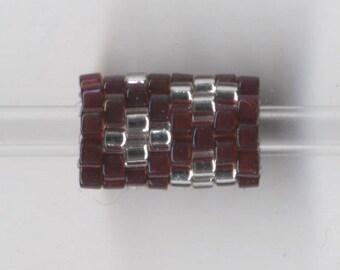 Woven Glass Bead Tube ... ... ... ... ... ... 6mm/o-3mm/i  ... ... ... ... ... 08x09 * 345