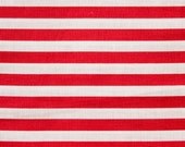 100% Cotton Quilt Prints Fabric - Red White Stripe