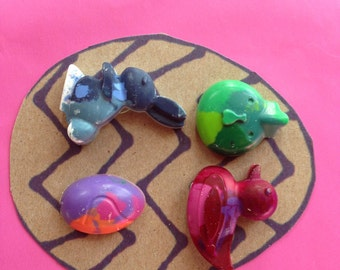 Upcycled Easter & Spring Crayons